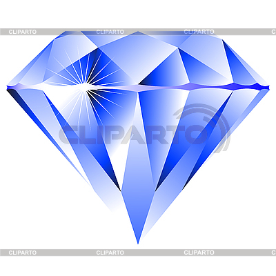 Blue diamond isolated on white | Stock Vector Graphics |ID 3002657