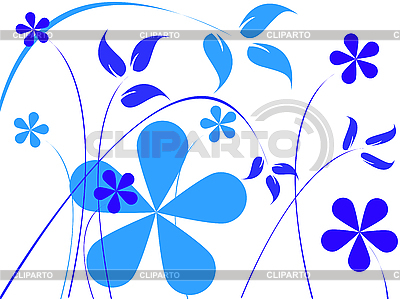 Blue flowers | Stock Vector Graphics |ID 3002667