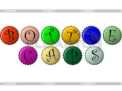 Bottle caps   Stock Vector Graphics  ID 3002737