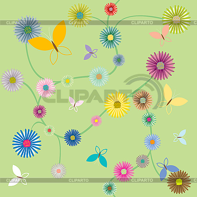 Butterflies and flowers | Stock Vector Graphics |ID 3002819