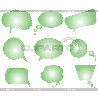 Collection of green stylized text bubbles | Stock Vector Graphics |ID 3002853