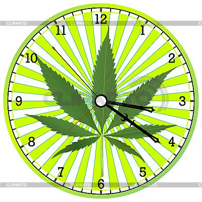 Cannabis clock | Stock Vector Graphics |ID 3002885