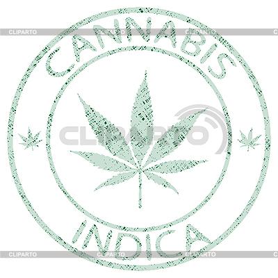 Cannabis indica pieczęć | Klipart wektorowy |ID 3002891