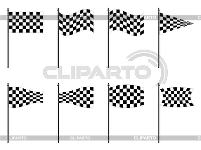 Checkered flags collection | Stock Vector Graphics |ID 3002931
