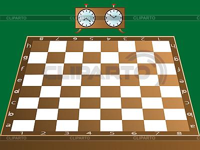 Schachbrett und Uhr | Stock Vektorgrafik |ID 3002933