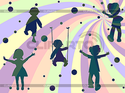 Children rays and bubbles composition | Stock Vector Graphics |ID 3002947