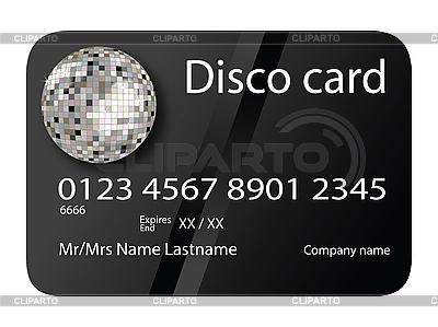 Czarny disco karty kredytowej | Klipart wektorowy |ID 3003213