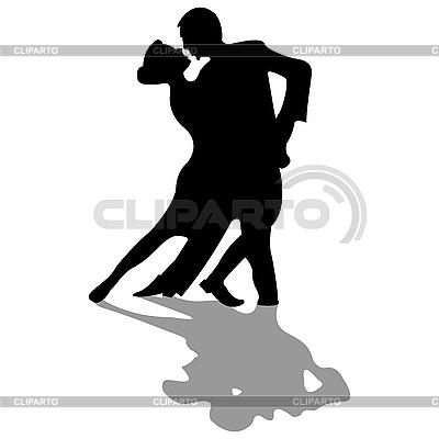 Tancerzy silhouettes samodzielnie na biały | Klipart wektorowy |ID 3003315