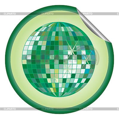 디스코 공 녹색 스티커 | 벡터 클립 아트 |ID 3003405