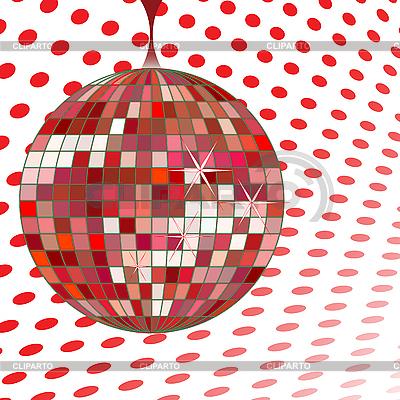 Rote Disco-Kugel | Stock Vektorgrafik |ID 3003421