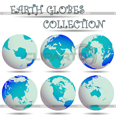 Earth globes collection | Stock Vector Graphics |ID 3003467