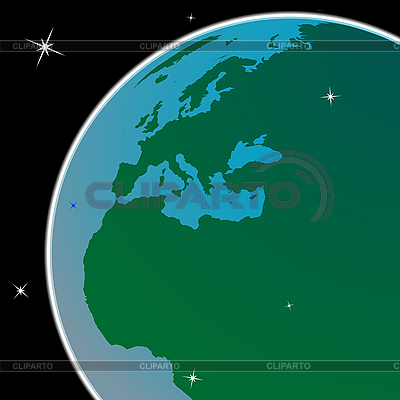 Earth out of space | Stock Vector Graphics |ID 3003471
