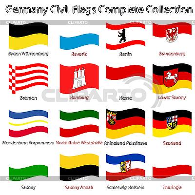 Faliste Niemcy cywilnych flagi pobierania białym | Klipart wektorowy |ID 3003793