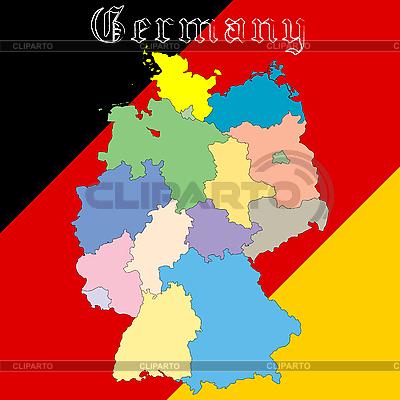 Mapa Niemcy nad krajowych kolory | Klipart wektorowy |ID 3003799
