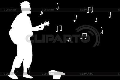 기타 남자 노래 | 벡터 클립 아트 |ID 3003987