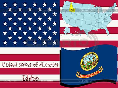 Idaho stanu ilustracji | Klipart wektorowy |ID 3004161