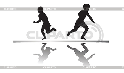 Kids running | High resolution stock illustration |ID 3004242