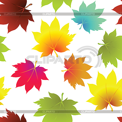 Autumn leaves seamless pattern | Stock Vector Graphics |ID 3004272