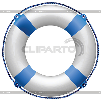 Blaue Rettungsring   Stock Vektorgrafik  ID 3004284