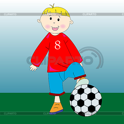 Knabe spillt Fußball | Stock Vektorgrafik |ID 3004318