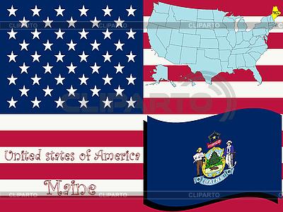 Maine stanu ilustracji | Klipart wektorowy |ID 3004350