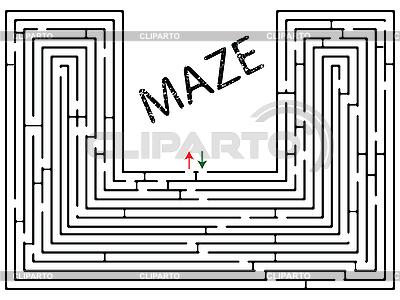 Labirynt białym | Klipart wektorowy |ID 3004372