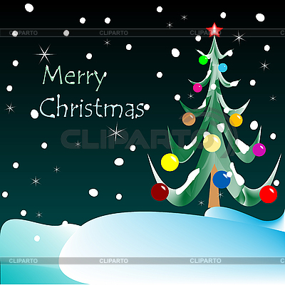 Merry christmas card (night vision)  | Stock Vector Graphics |ID 3004404