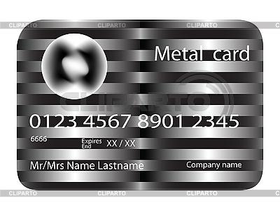 Karta kredytowa metalu   Klipart wektorowy  ID 3004416