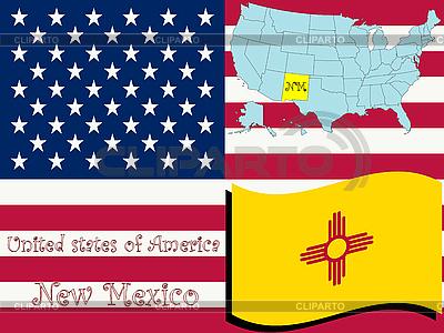 Nowy Meksyk stanu ilustracji | Klipart wektorowy |ID 3004520