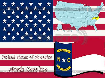 Północ Karolina stanu ilustracji | Klipart wektorowy |ID 3004542