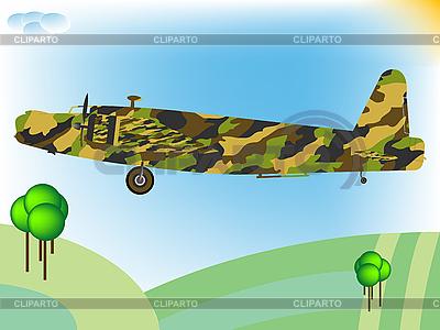 Stary wojskowy samolot | Klipart wektorowy |ID 3004564