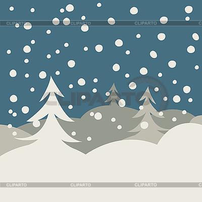 Winter illustration card   Stock Vector Graphics  ID 3004609
