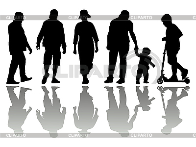 People black silhouettes | Stock Vector Graphics |ID 3004685
