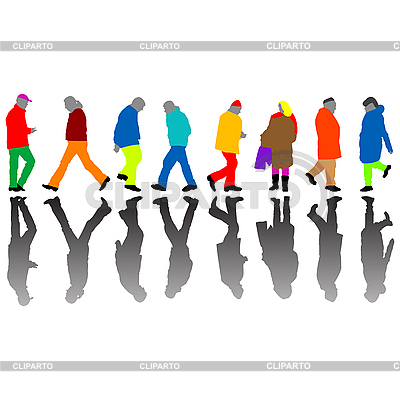 People silhouettes against white   Stock Vector Graphics  ID 3004693