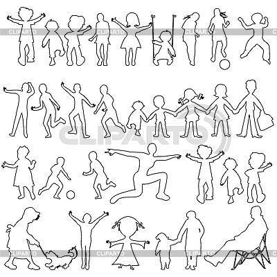 Peoples black sketch | Stock Vector Graphics |ID 3004695