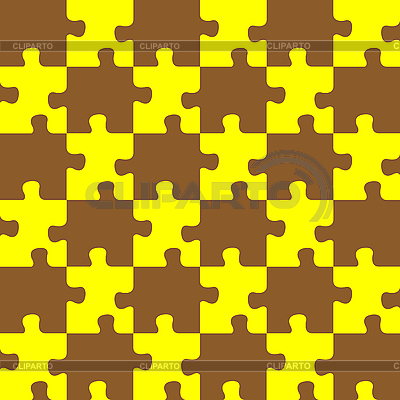 Puzzle brown and yellow | Stock Vector Graphics |ID 3004825