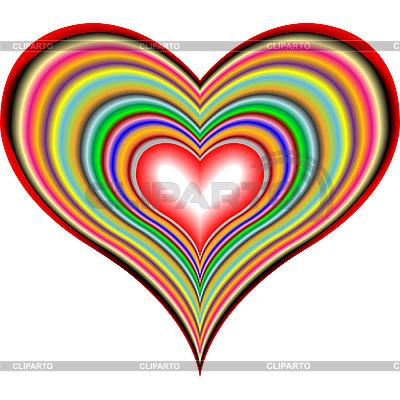 Tęcza serca | Klipart wektorowy |ID 3004965
