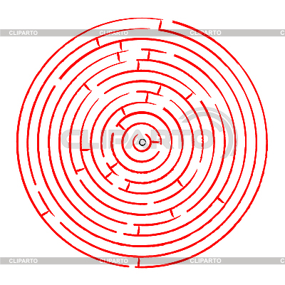 Round red maze against white | Stock Vector Graphics |ID 3005086