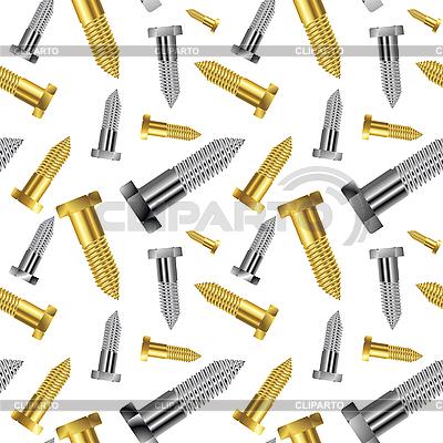 Bez szwu goldish - srebrny wzór śruba przedłużony | Klipart wektorowy |ID 3005192