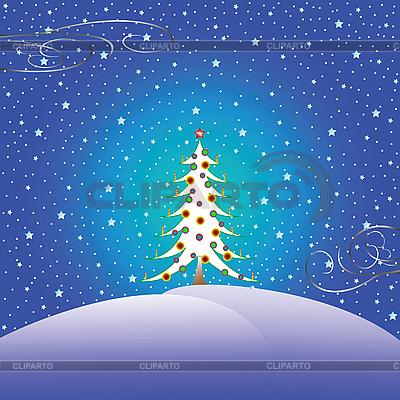 Weihnachtsbaum und Schnee | Stock Vektorgrafik |ID 3005422