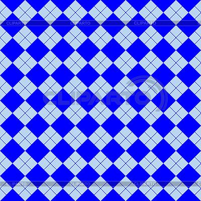 Blaues Quadratisches Muster | Stock Vektorgrafik |ID 3005544