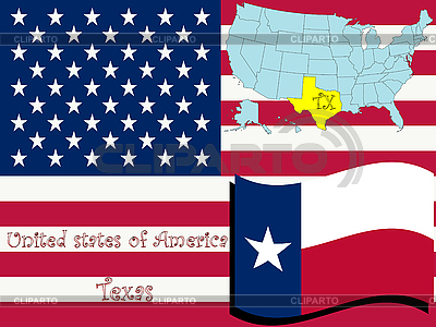Ilustracja stanu Teksas | Klipart wektorowy |ID 3005608