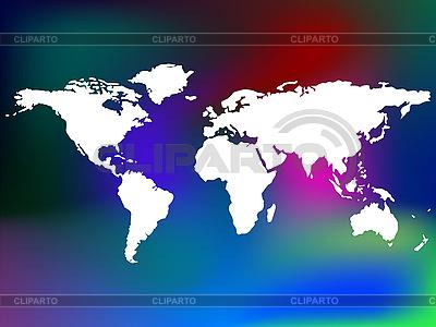 Weltkarte auf farbigem Hintergrund | Stock Vektorgrafik |ID 3005702