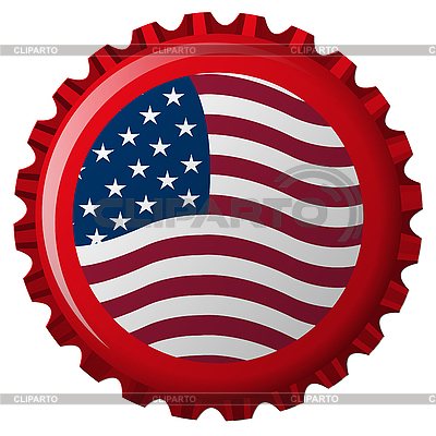 United states stylized flag on bottle cap | Stock Vector Graphics |ID 3005714