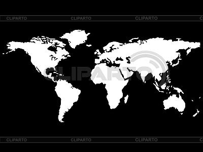 白色的世界地图 | 向量插图 |ID 3005876