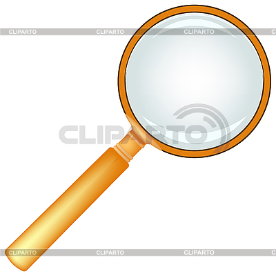 Wooden magnifying glass   Stock Vector Graphics  ID 3005926