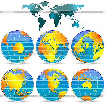 World globes | Stock Vector Graphics |ID 3005944