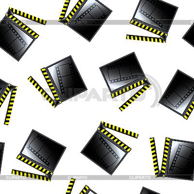 Movie cinema clapboard pattern | Stock Vector Graphics |ID 3006276