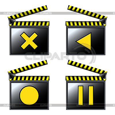 Movie cinema detailed icons | Stock Vector Graphics |ID 3006278