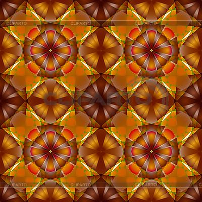 鲜花无缝的几何图案 | 向量插图 |ID 3029195